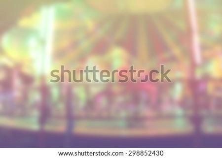 Blur carousel pastel color - stock photo