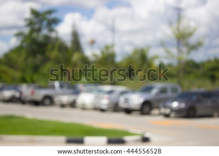 blur cars parking background for use as Background