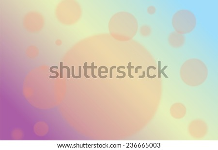 Blur circle on colorful background