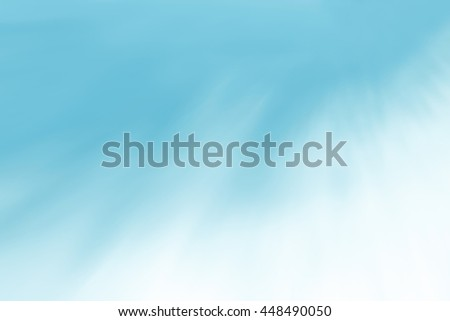 Blur clouds sky heaven background. Soft focus blue pastel sky white sunlight day time background. Abstract blurred of sunlight. Open view out windows. Cyan gradient cool backdrop. Blurry nature summer - stock photo