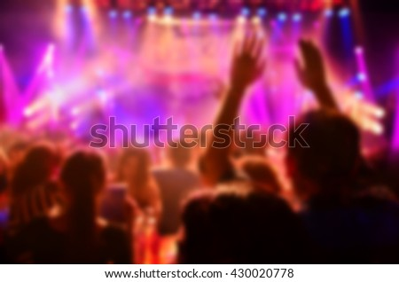 blur club party - stock photo