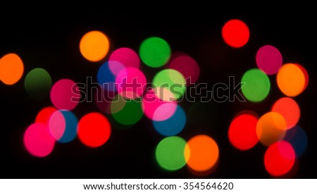 Blur color bokeh background from chrismas tree in dark background 4