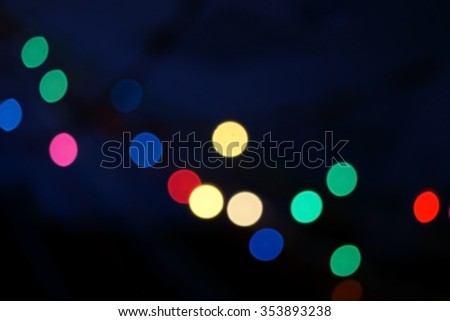Blur colorful christmas lights bokeh background for backdrop - stock photo