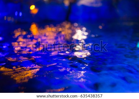 Dark Blue Pool Water swimming pool party night stock images, royalty-free images
