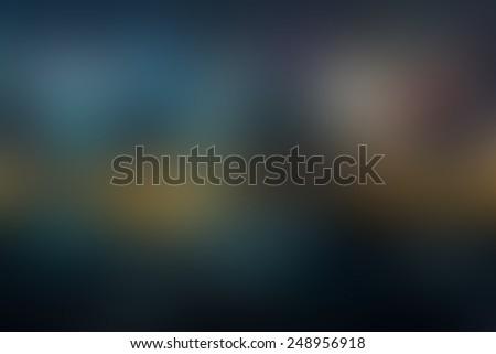 Blur dark tone color night light, defocused blurred background. - stock photo