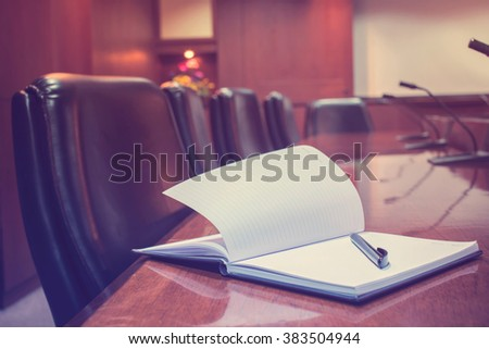 Blur empty conference room - stock photo