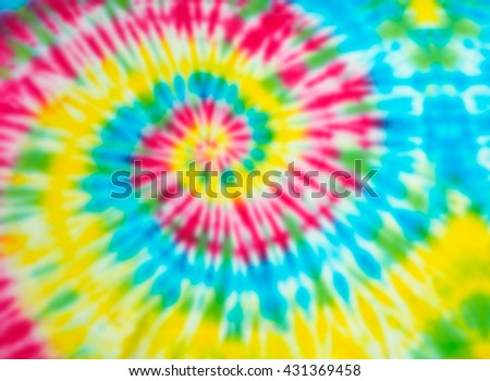 Blur fabric Tie dye bright colors texture background. - stock photo