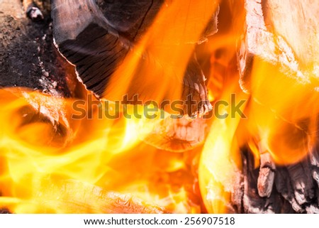 blur flame or fire background