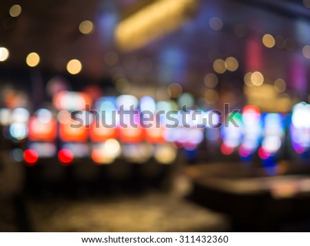 Blur focus in casino. Abstract Background in Vegas Nevada.blurred background - stock photo