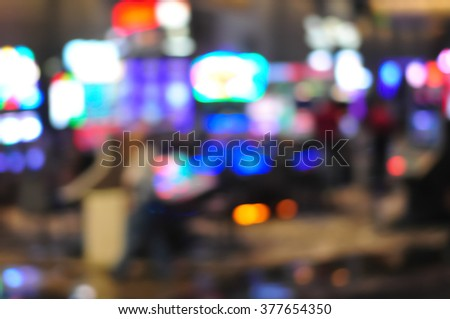Blur focus in casino with Instagram Style Filter - stock photo