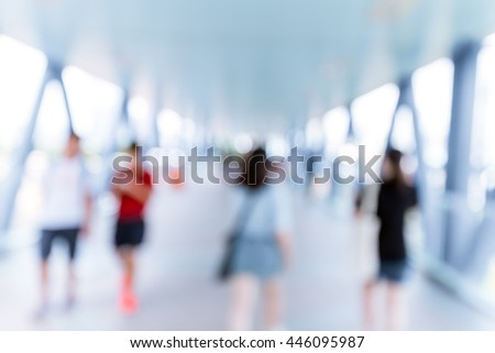 blur footbridge background