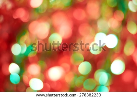 Blur geometric shapes on red green background - stock photo