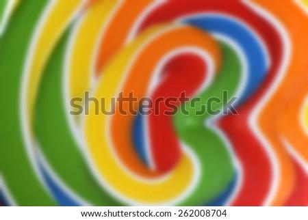 Blur Giant Lollipop Close-up background - stock photo