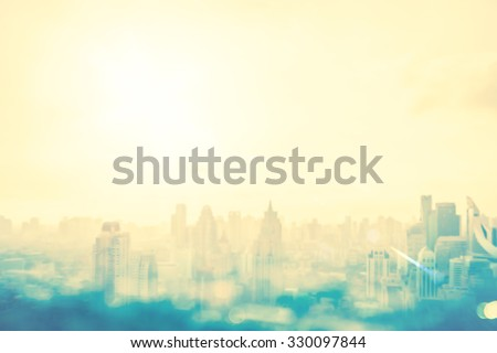 Blur gold big city concept. Aerial Amazing Beauty Light Asia Industry Soft Town Glow Sun Hope Office Nature Night Plan Agent Happy Capital Backdrop Blurry Top Booking Pastel Urban Modern Old Yellow - stock photo