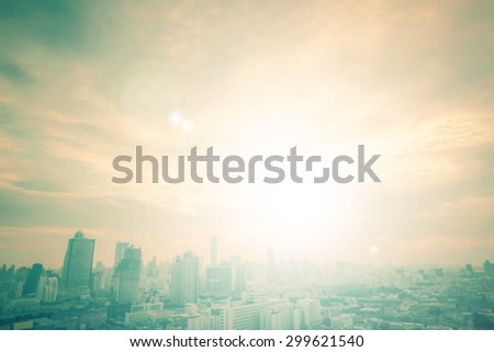 Blur gold big city concept. Aerial Beauty Light Hotel Resident Asia Industry Market Soft Town Over Urban Glow Sun Hope Office Nature Night Horizon Luxury Capital Backdrop Vintage CSR Flare Abstract - stock photo