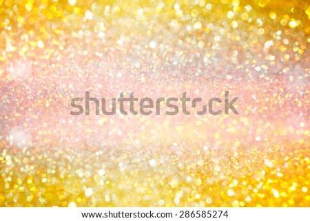 Blur gold texture glitter background - stock photo