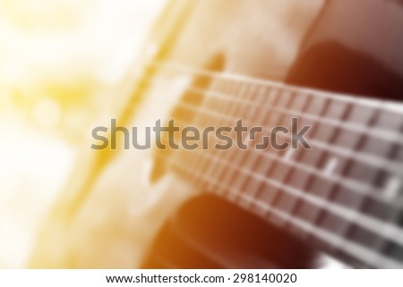 blur guitar - stock photo