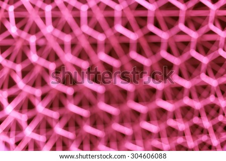 blur hexagon geometry structure abstract for background, red color tone - stock photo
