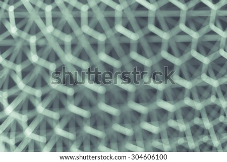 blur hexagon geometry structure abstract for background, vintage color tone - stock photo