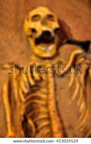 Blur  Human skeleton - stock photo
