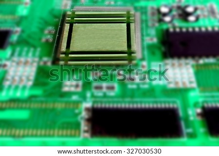 blur image of circuit boards
