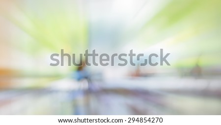 blur image of food center with bokeh for background usage . - stock photo