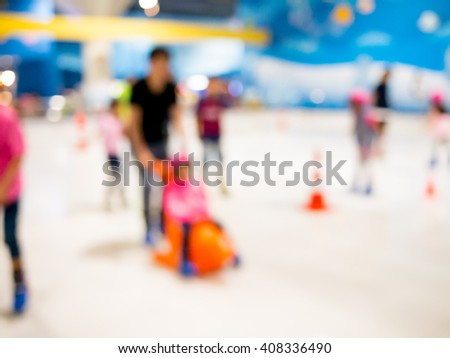 blur Image of Ice Skating Rink ,blur background