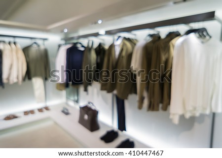 Blur image of jeans display in the fashion