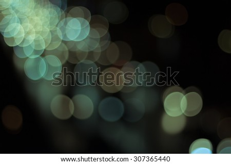 Blur image of lights during the night (car light)