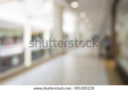 blur image of modern lobby for background usage - stock photo