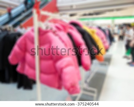 Blur image of shop sellings use for background.