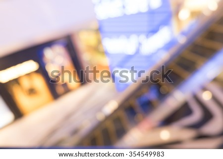 Blur image of shopping mall