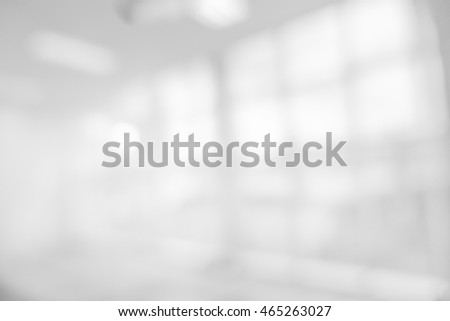 Blur inside office building with bokeh light background, Business blurred background