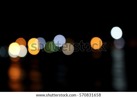 blur light,beautiful bokeh in lake