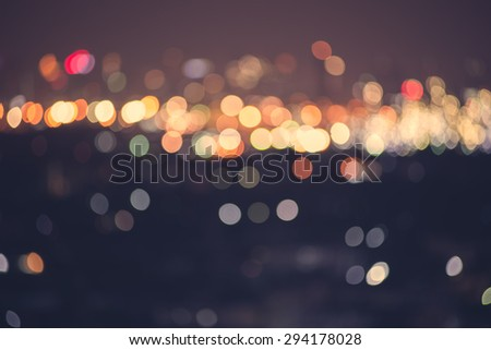 blur light bokeh abstrac background in vintage concept  - stock photo
