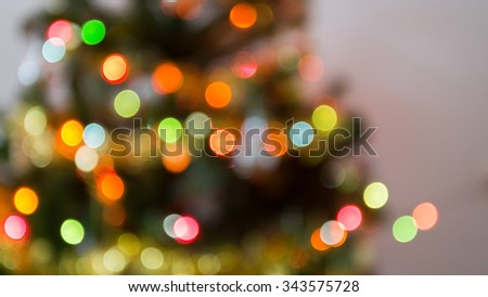 blur light celebration on christmas tree, happy new year colorful background - stock photo