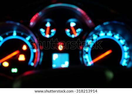 Blur light of mile gauge. - stock photo
