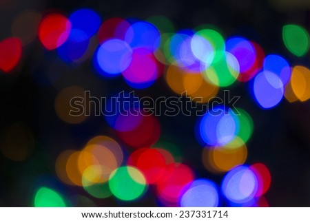 blur lights christmas background on black - stock photo