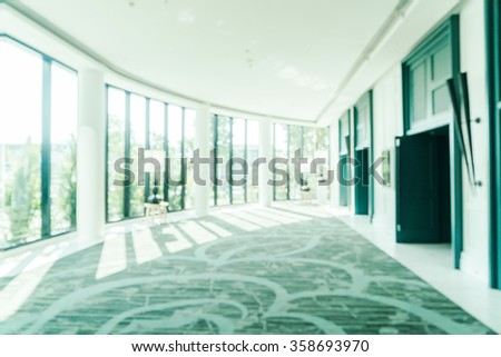 Blur luxury hotel lobby interior background - Filter effect processing