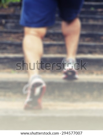 blur man running