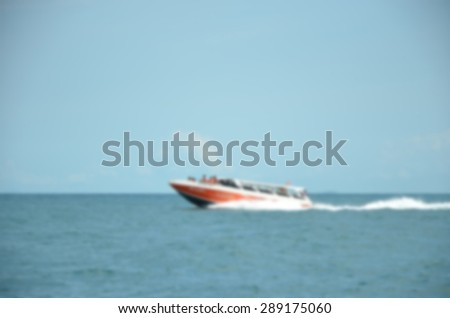 blur  Moving boat motion abstraction background. - stock photo