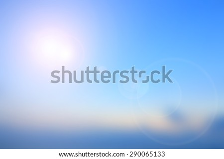 Blur Nature Background, sunset sky background. World Environment Day CSR perspective