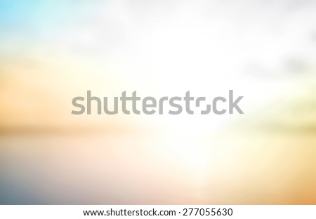 Blur nature. Beach, Bright, Bokeh, Flare, Sand, Soft, Glow, Ocean, Wave, Clear, Retro, Relax, Shine, Light, Pastel, Fresh, Smooth, Orange, Horizon, Park, Gradient, Style, Blurry, Colorful Concept. - stock photo