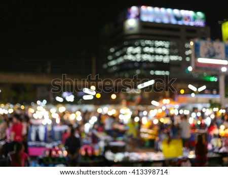 blur Night Market, THAILAND