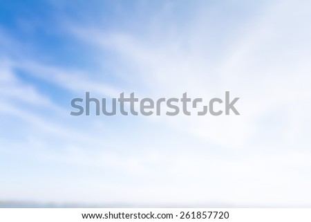 blur of blue sky with cloud - stock photo