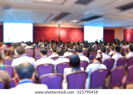 Blur of business Conference and Presentation in the conference hall. - stock photo