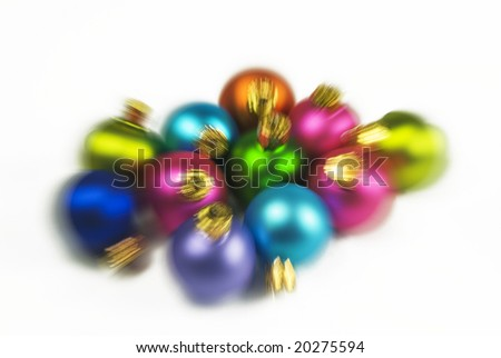 Blur of Christmas ornaments