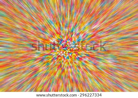 Blur of colorful sugar for texture and background, Blur background