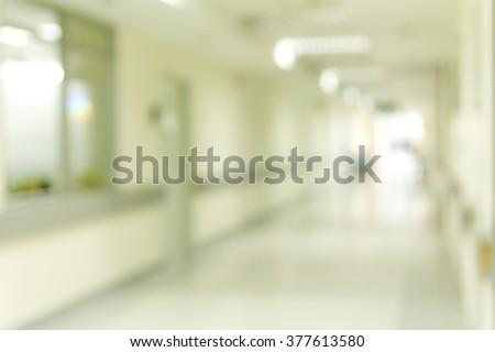 Blur of corridor hospital  - stock photo