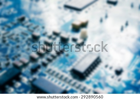 blur of electronic circuit board